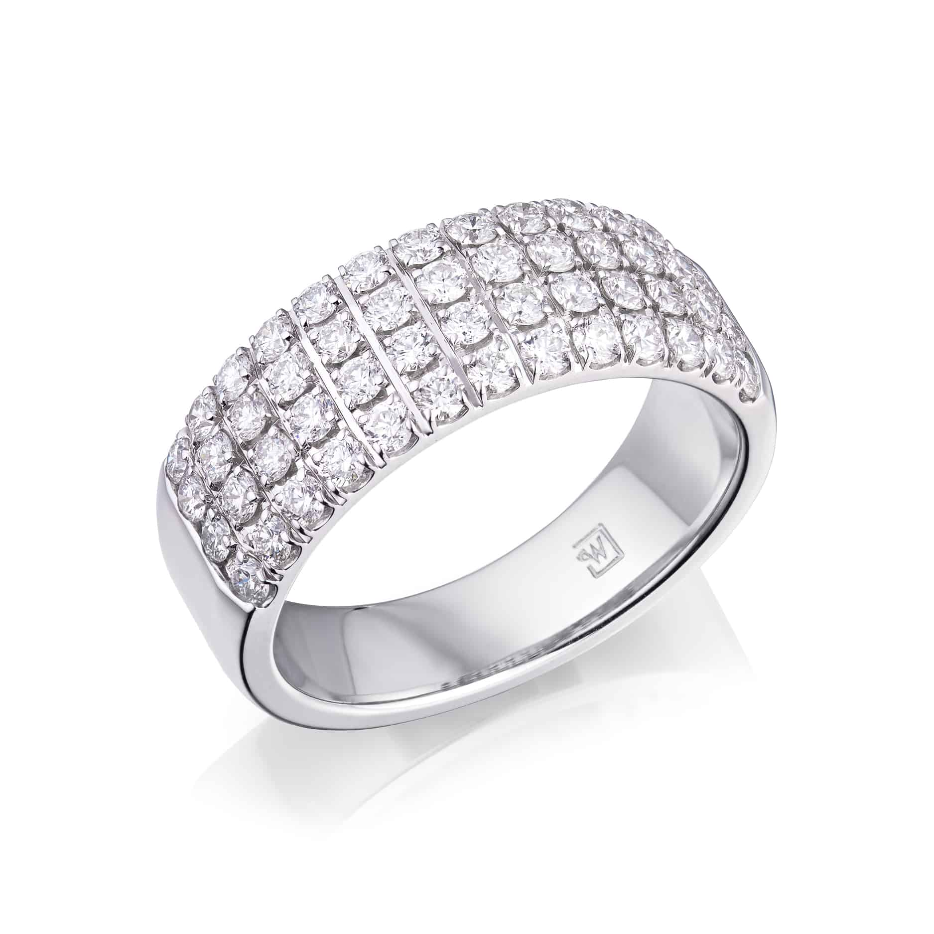 Round Diamond Pave Ring