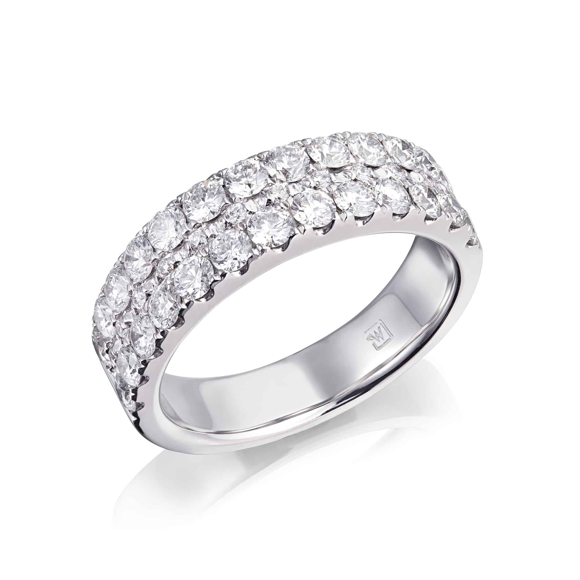 Diamond Three Row Dress Ring