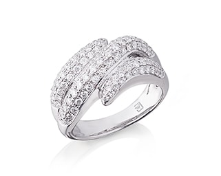 Diamond Pavee Set Ring