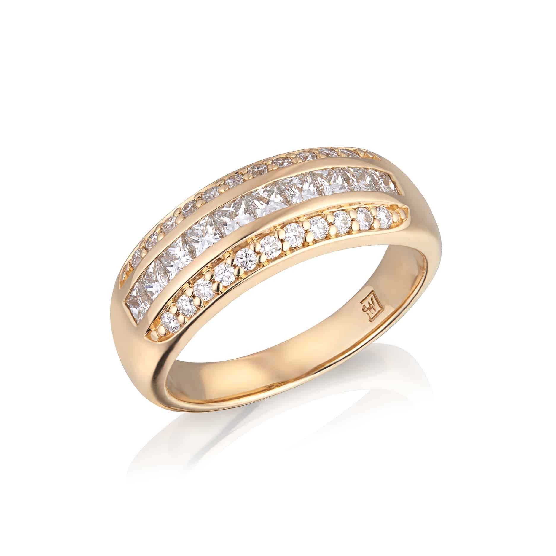 Diamond Channel Dress ring