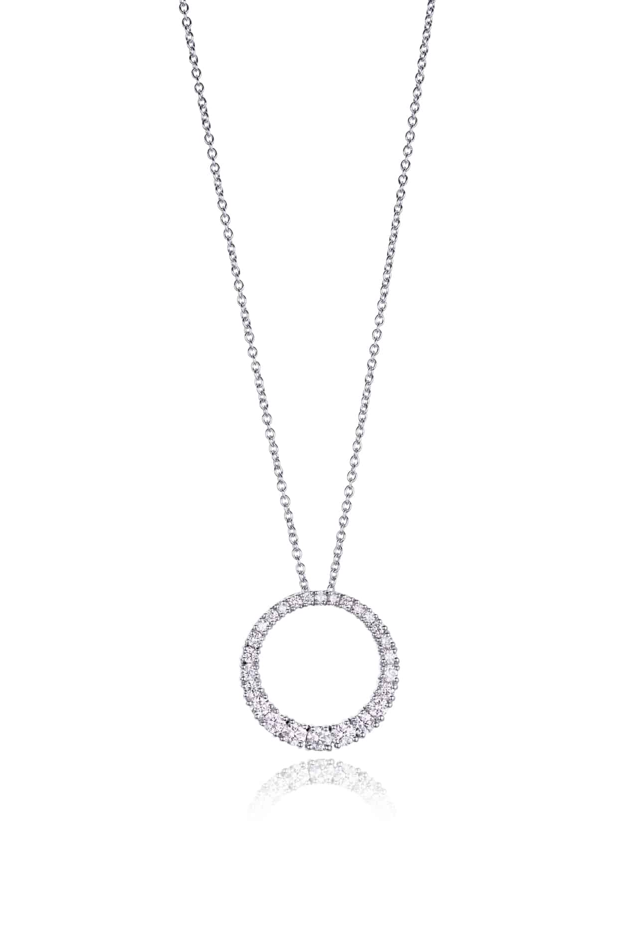 Diamond Graduated Circle Pendant
