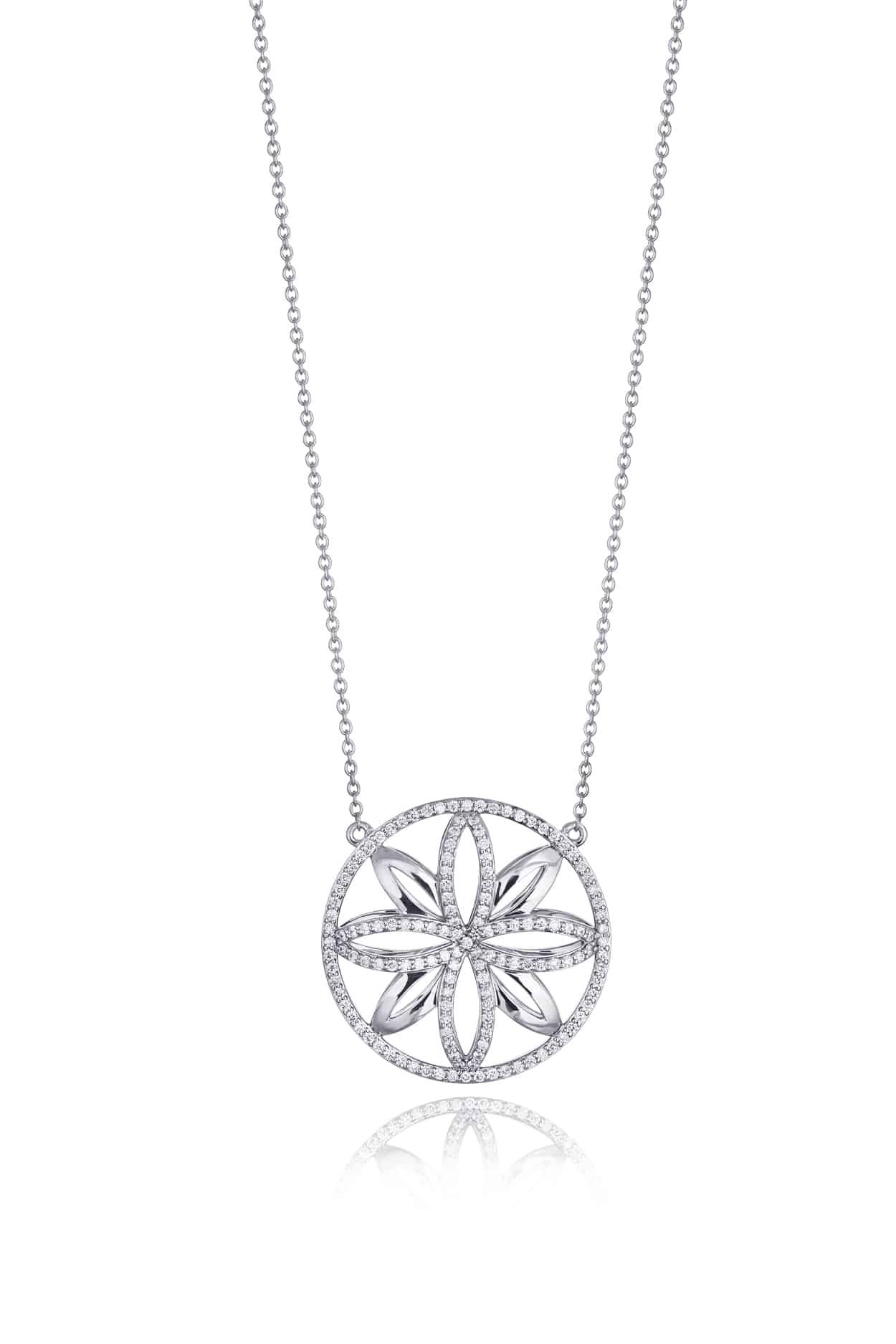 Ellipse Collection Diamond Pendant
