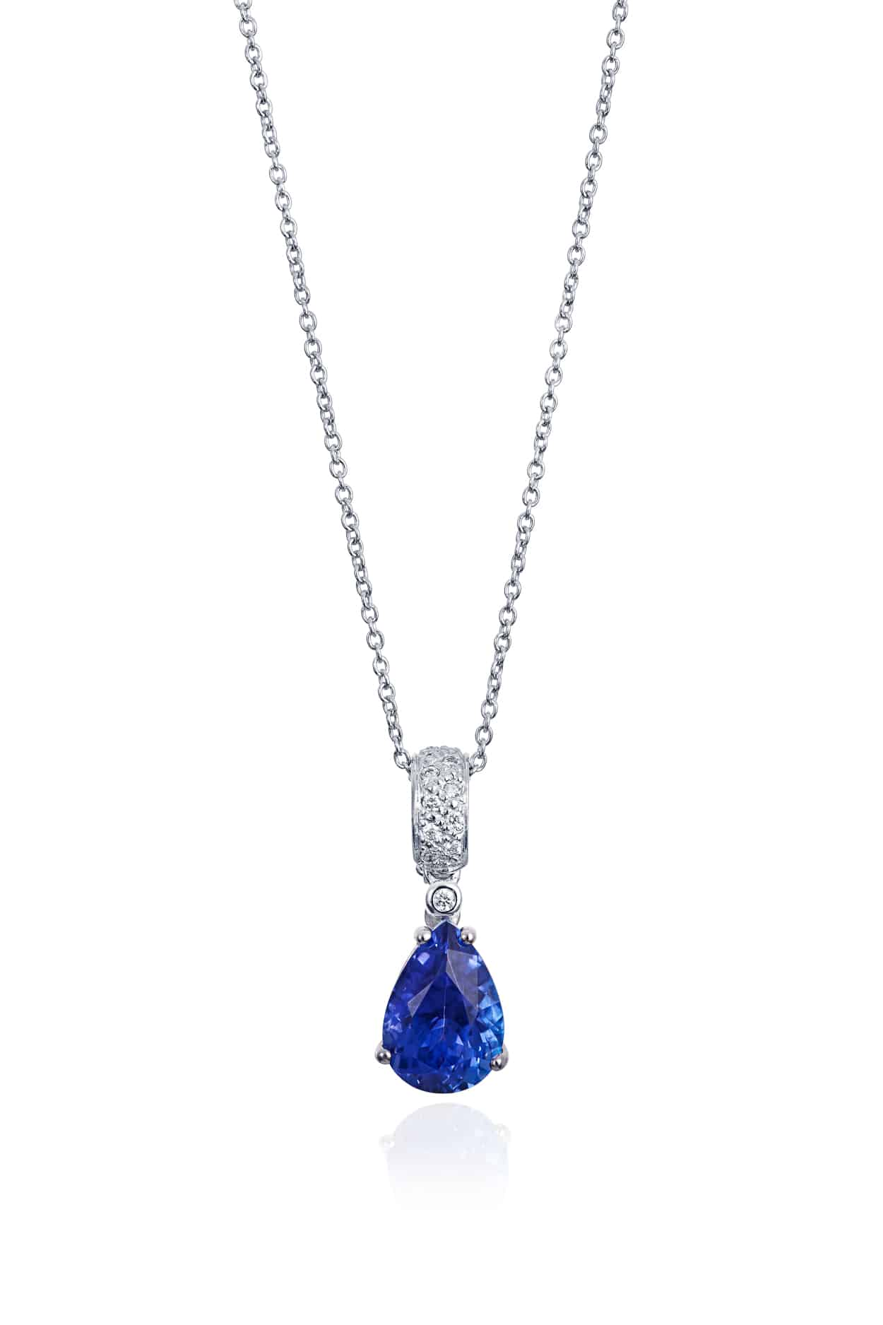Pear Tanzanite & Diamond Pendant