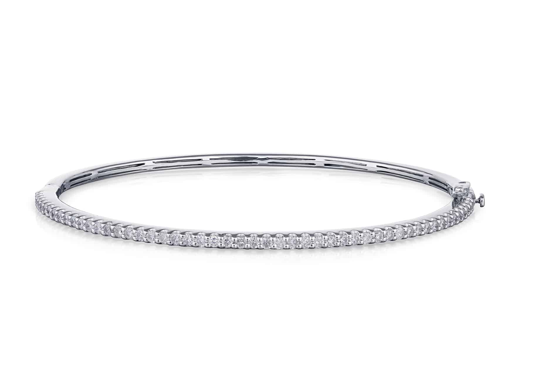 Diamond Cut Claw Bangle