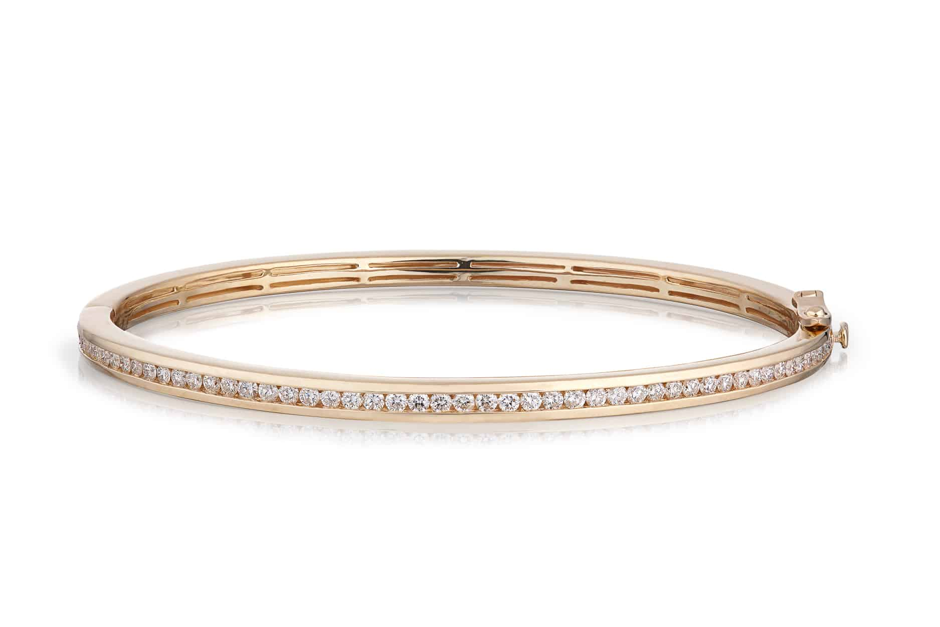 Diamond Channel Set Bangle