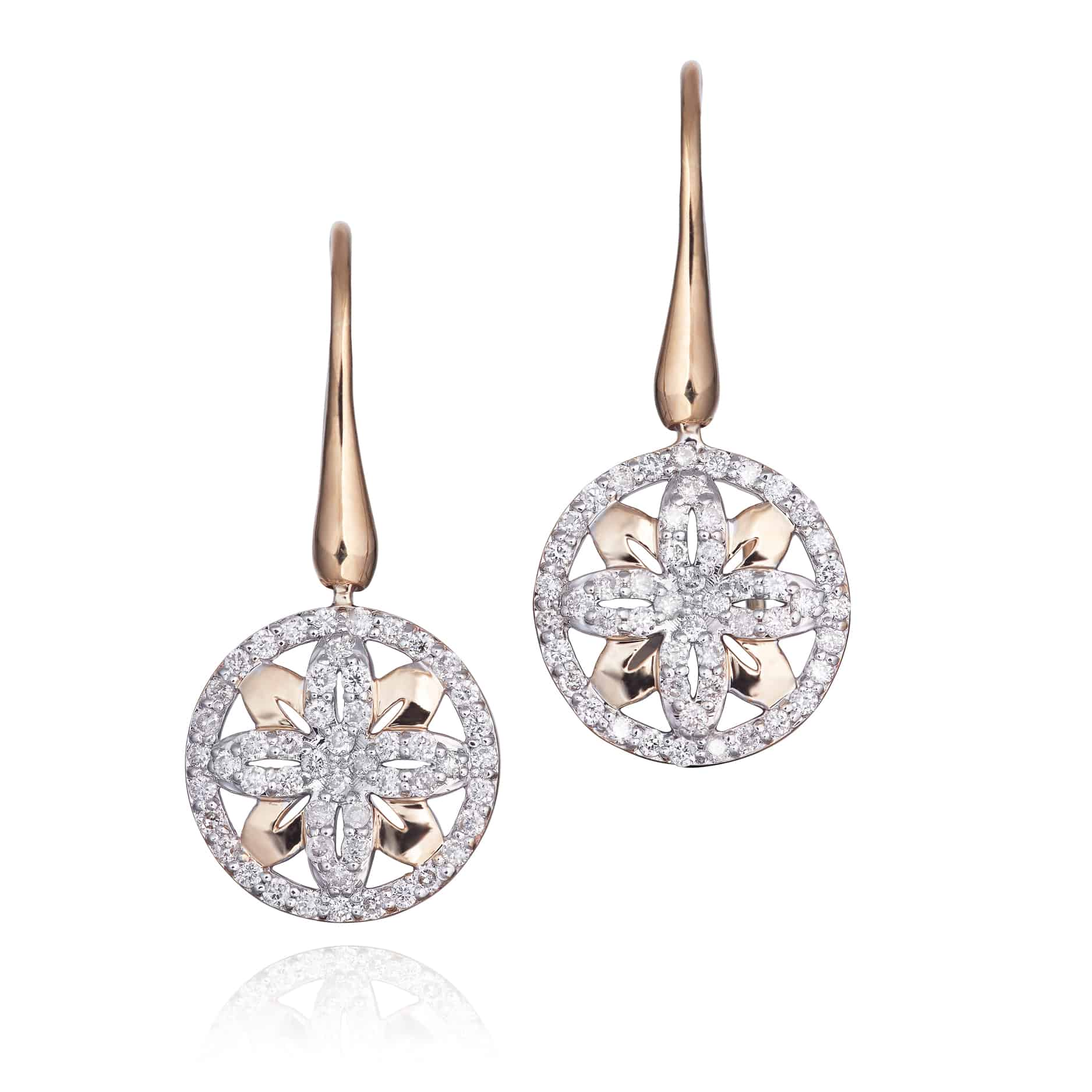 Ellipse Collection Diamond Drop Earrings