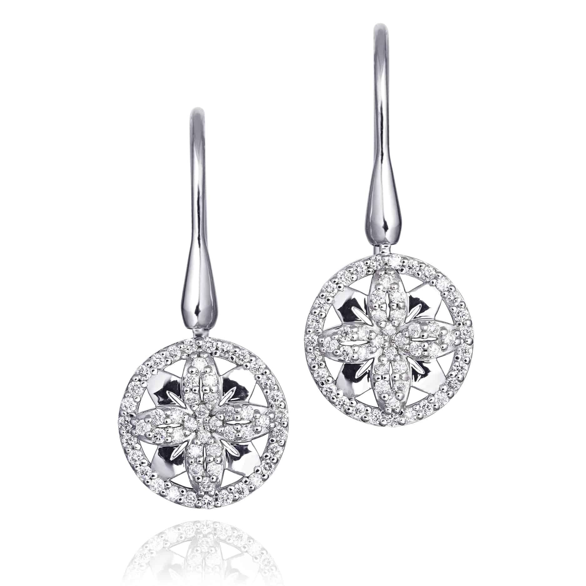 Ellipse Collection Diamond Drop Earrings