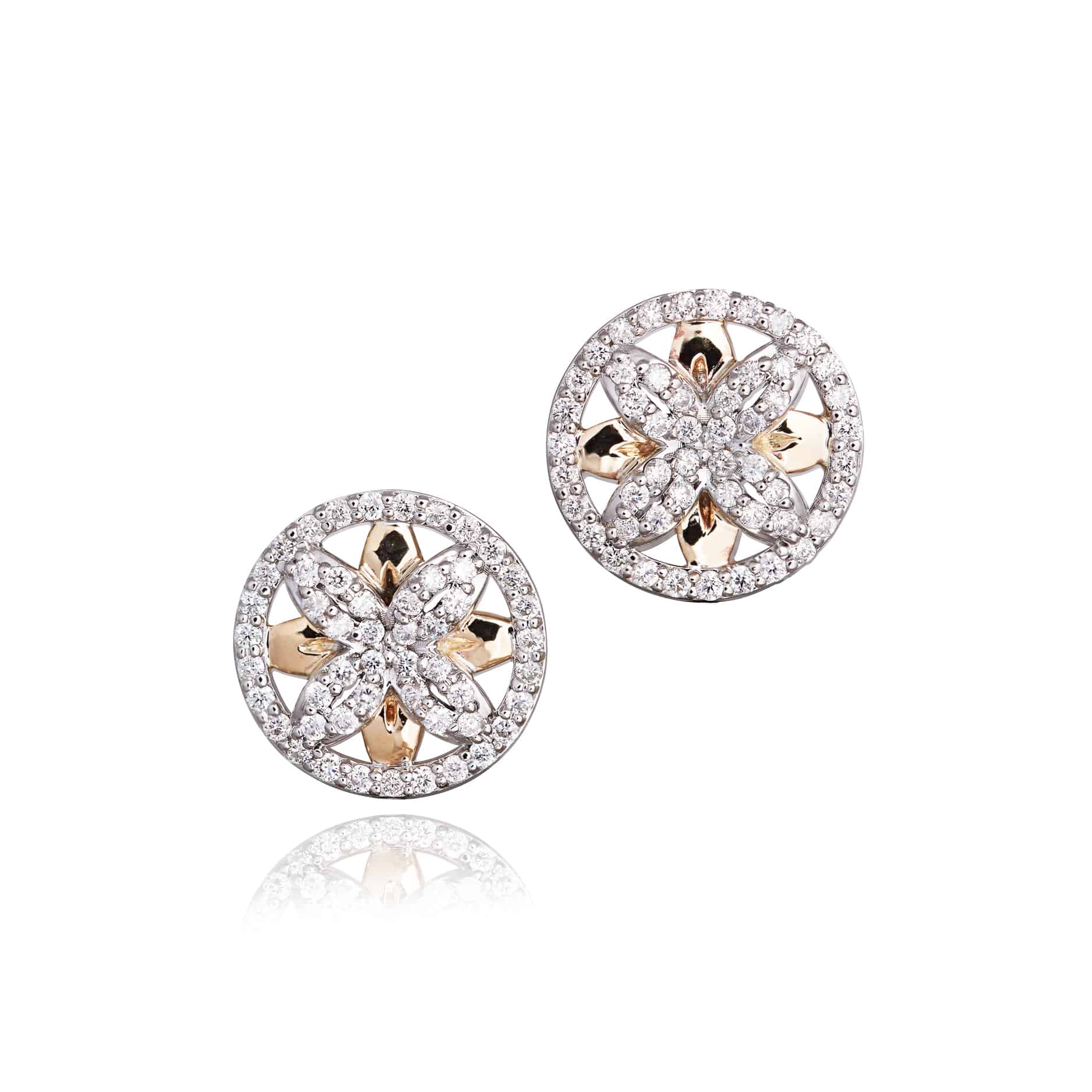 Ellipse Collection Diamond Stud Earrings