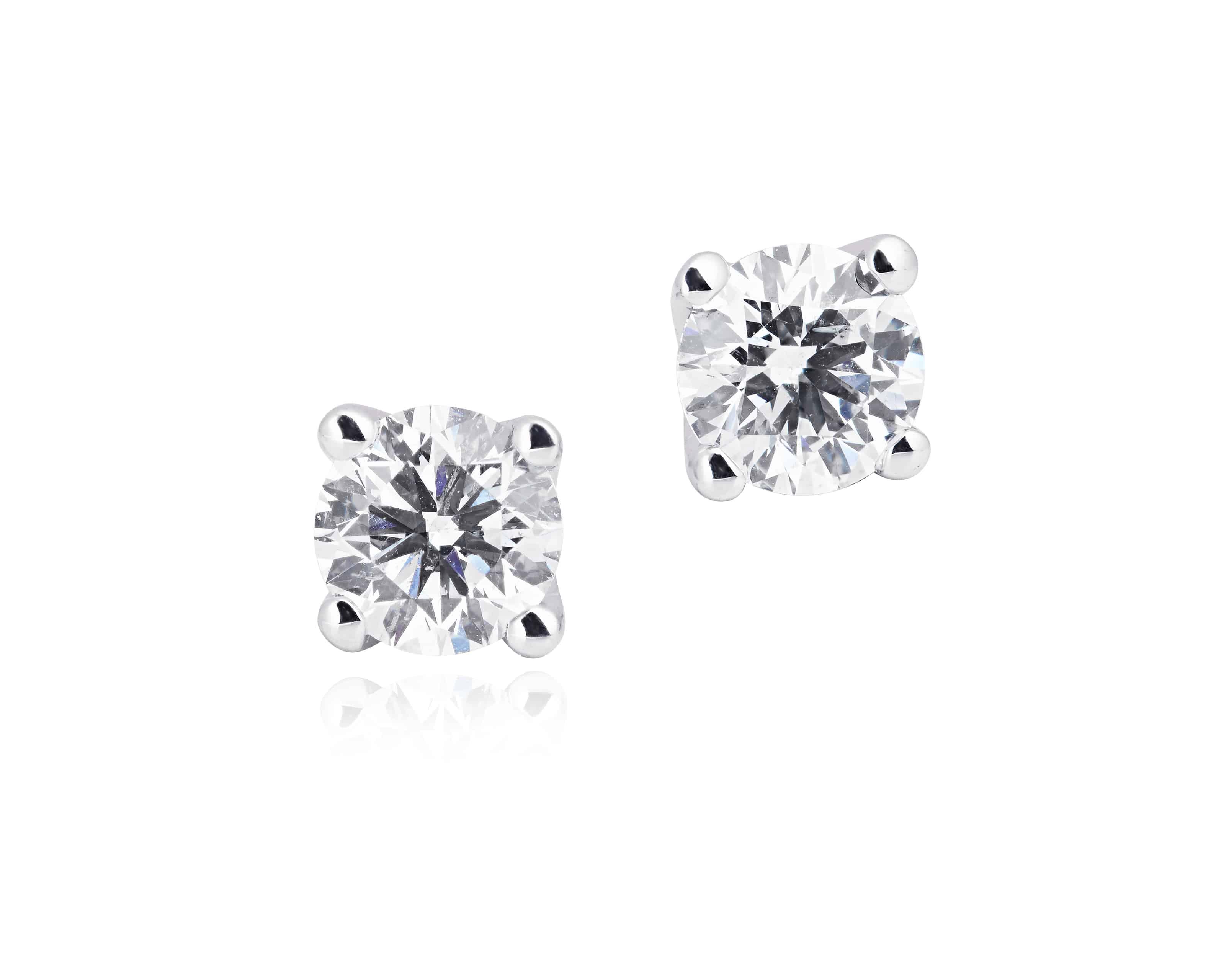 Diamond Set Stud Earrings