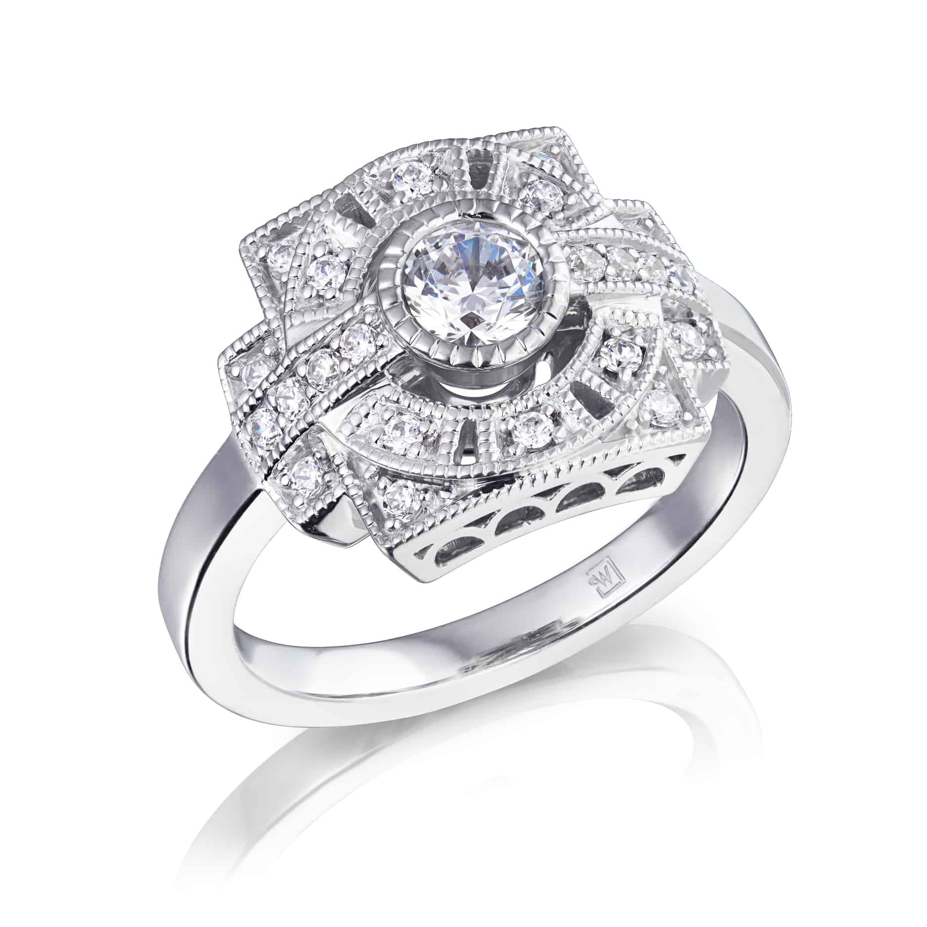 Vintage Style Diamond Dress Ring