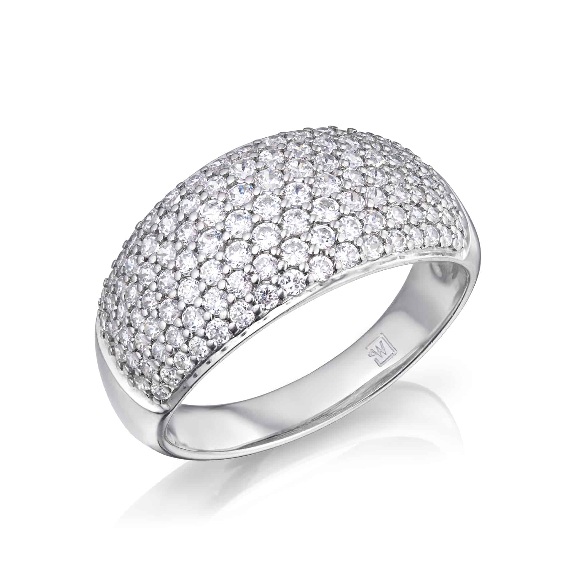 Diamond Domed Pavee Ring