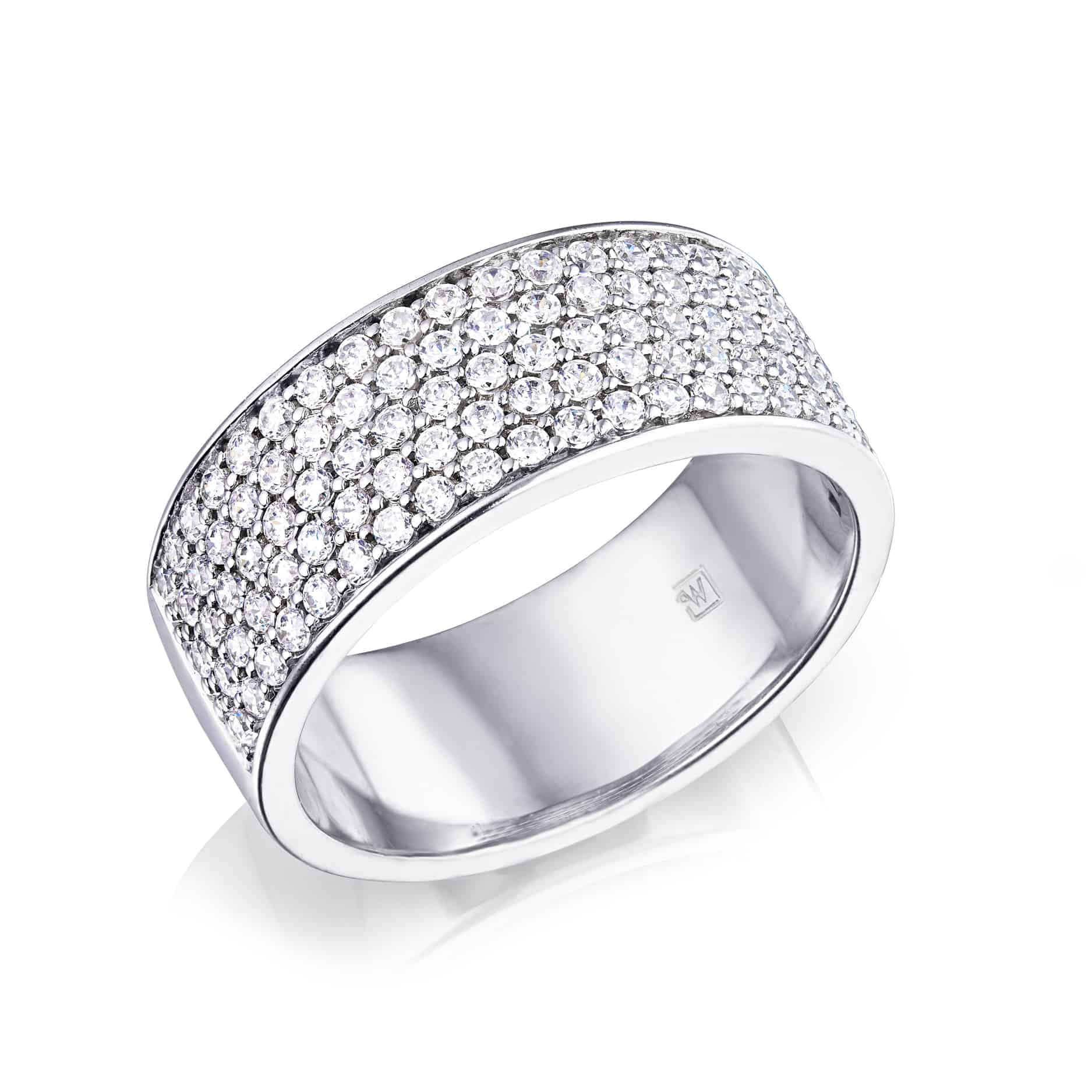 Diamond Set Pavee Ring