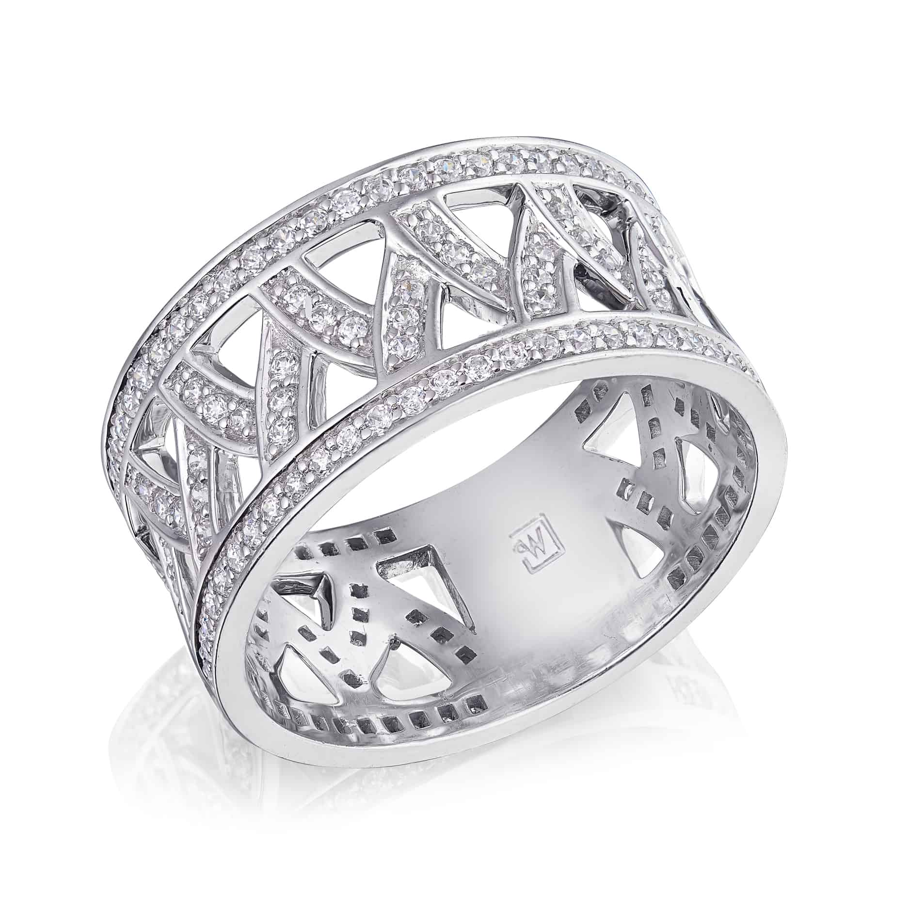Vintage Style Diamond Set Dress ring