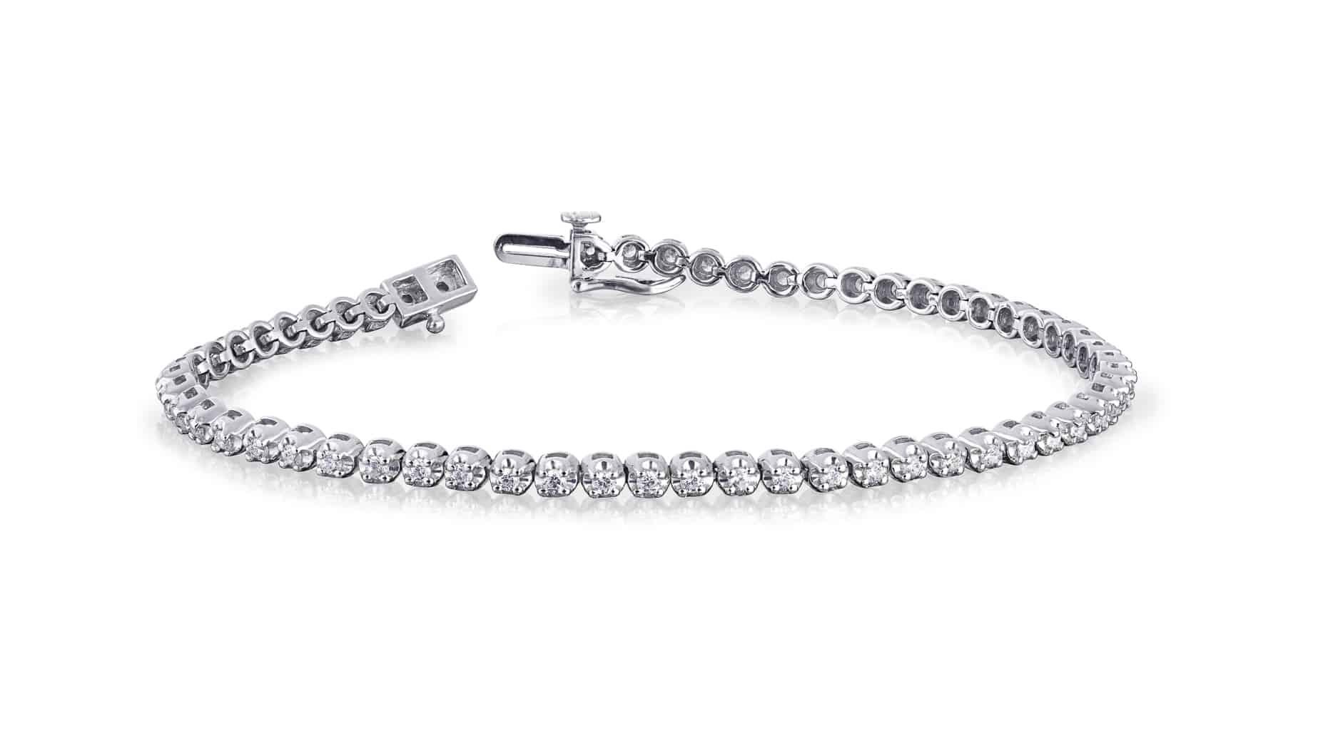 Diamond Set Tennis Bracelet