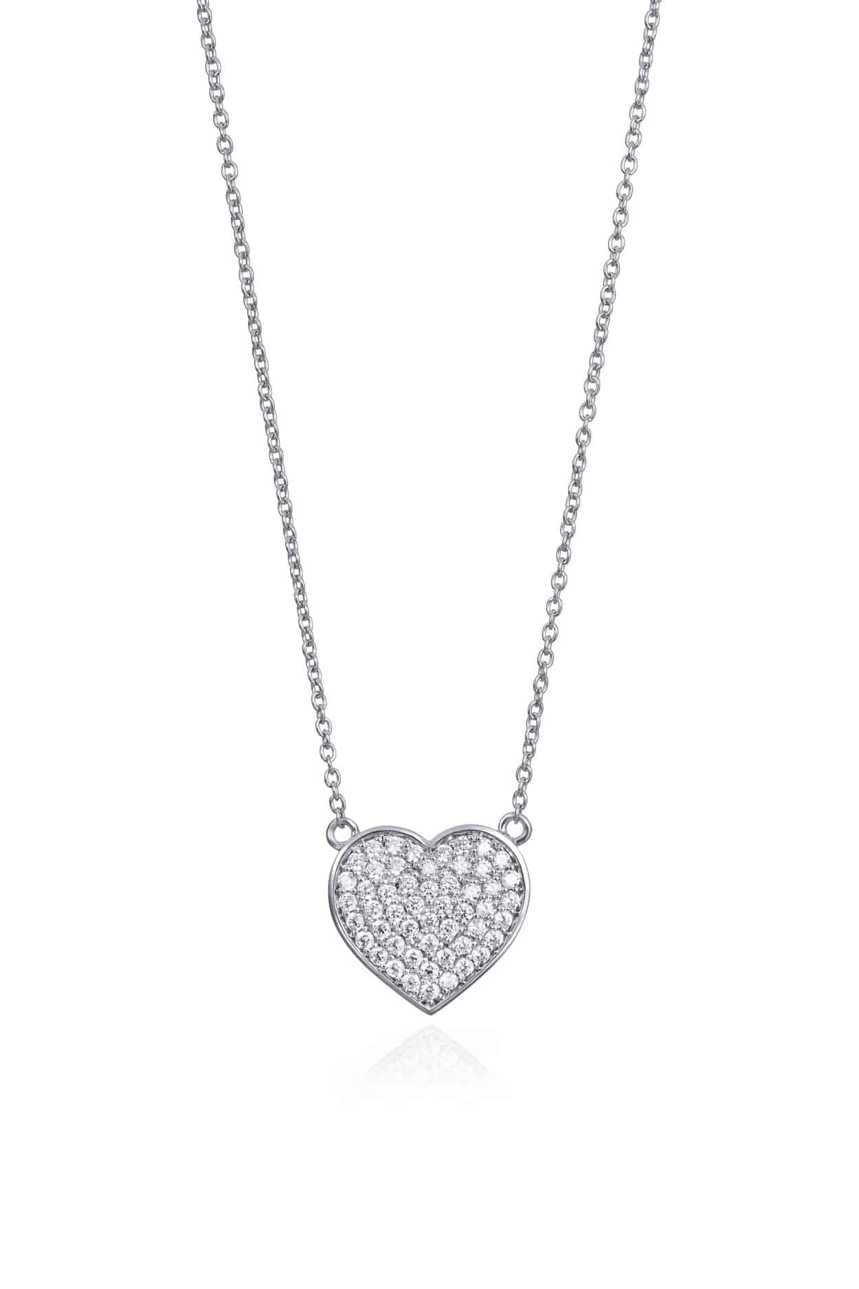 Heart Pavee Set Pendant