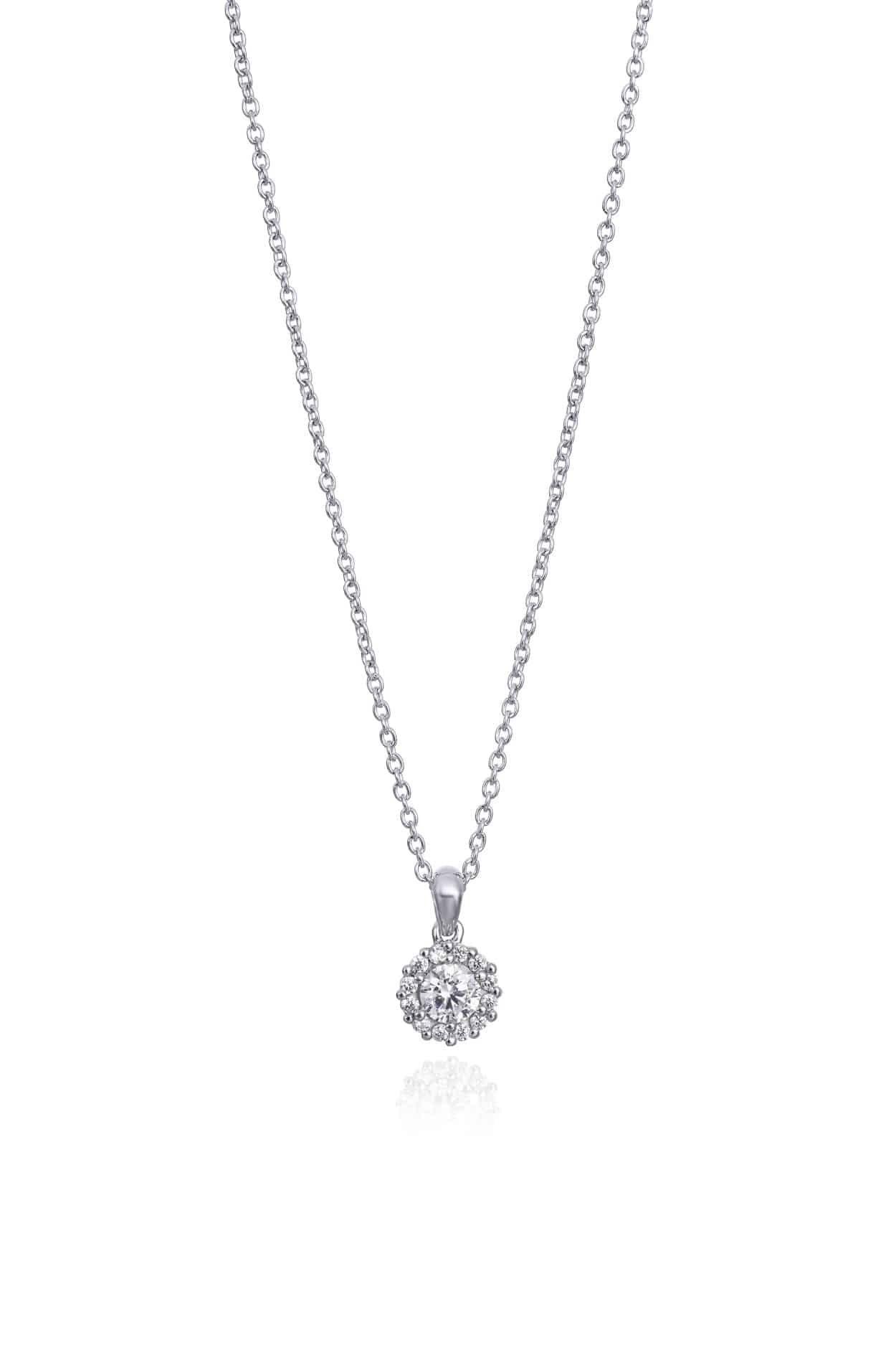 Diamond Set Cluster Pendant