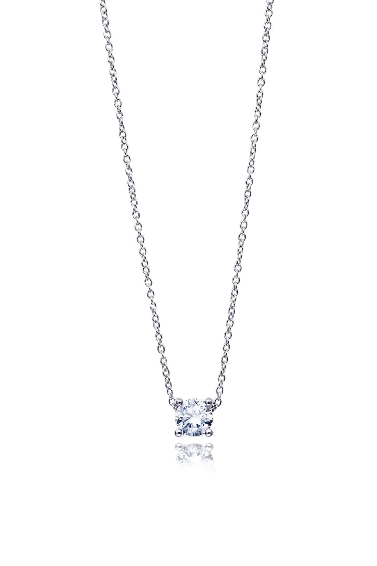 Diamond Four Claw Slider Pendant