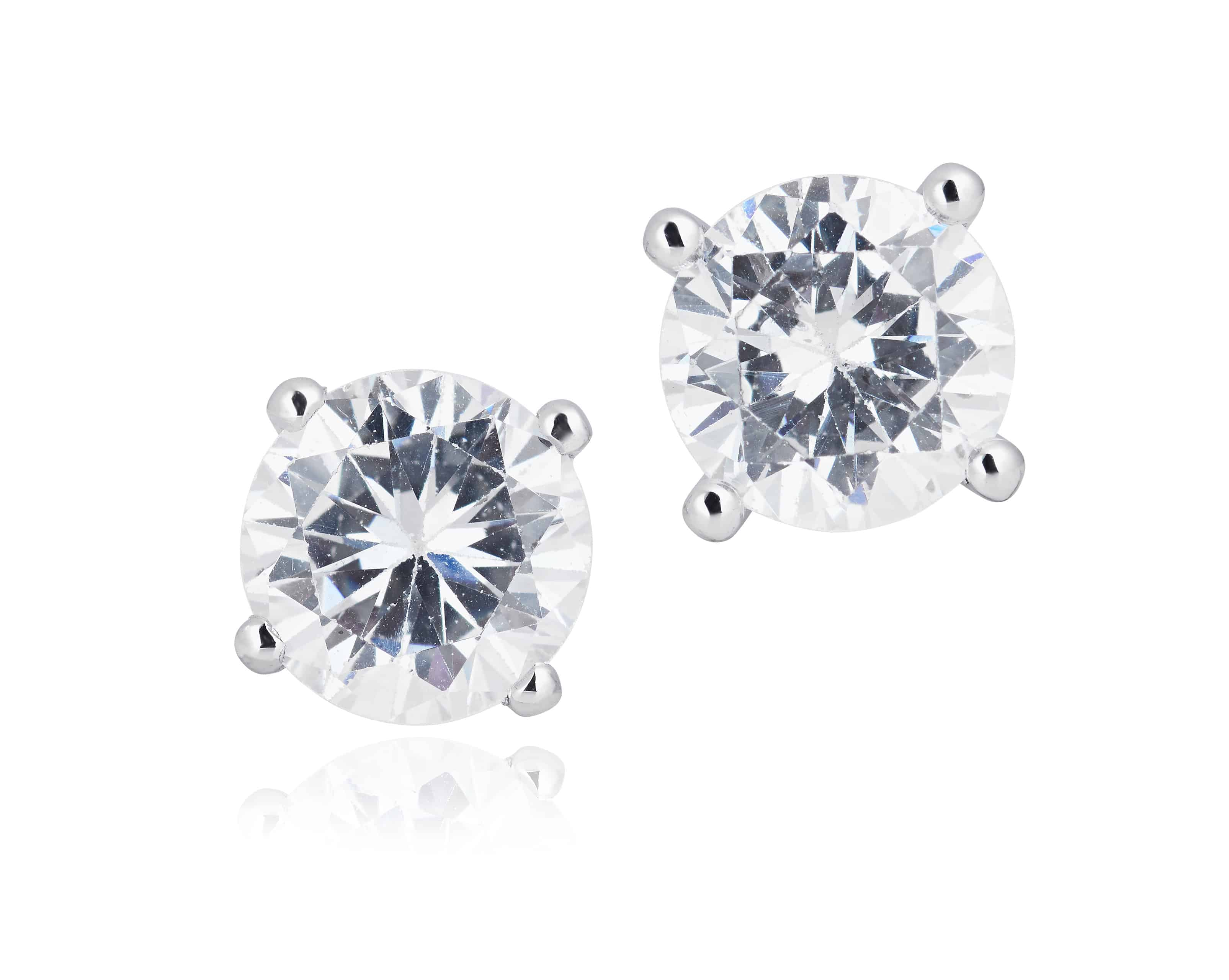 Diamond Set Stud Earrings