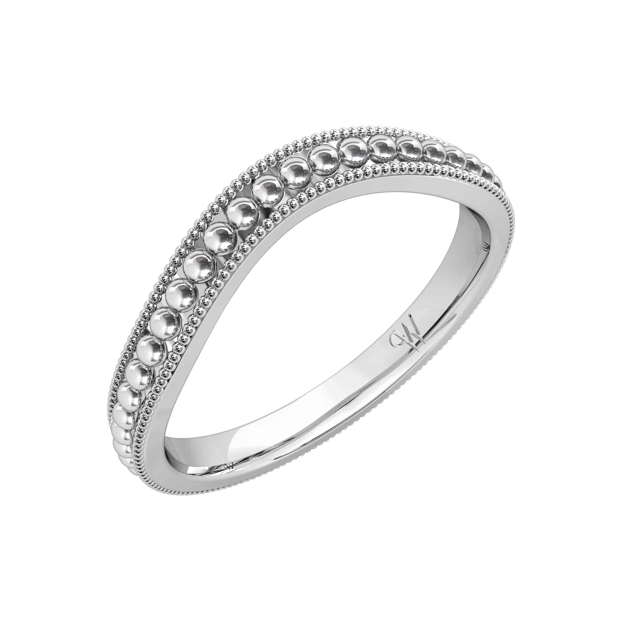 Art Deco Style Patterned Wedding Ring