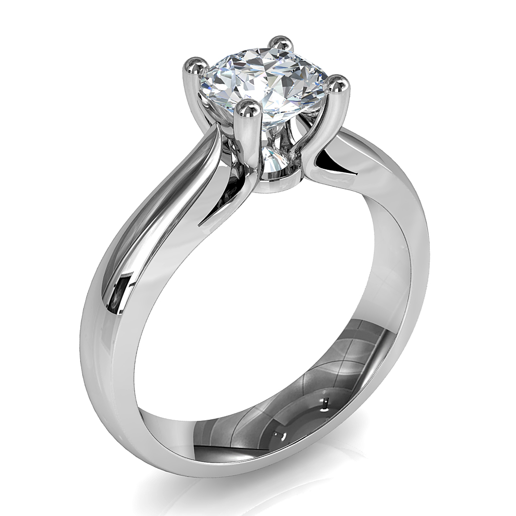 Round Brilliant Cut Halo Diamond Engagement Ring, Bezel Set Centre in a Rolled Bead Set Halo on Straight Flat Band with Open Undersetting.